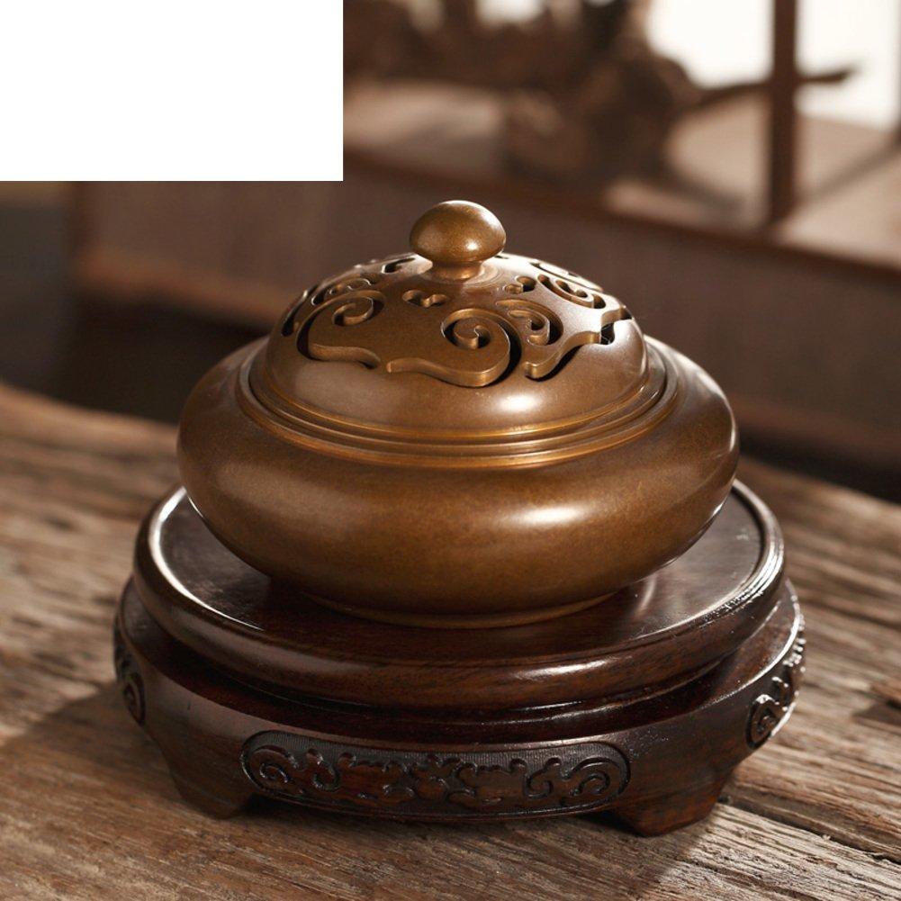 incense/King size antique copper aroma pot/ sandalwood furnace/ bedroom incense burner-B