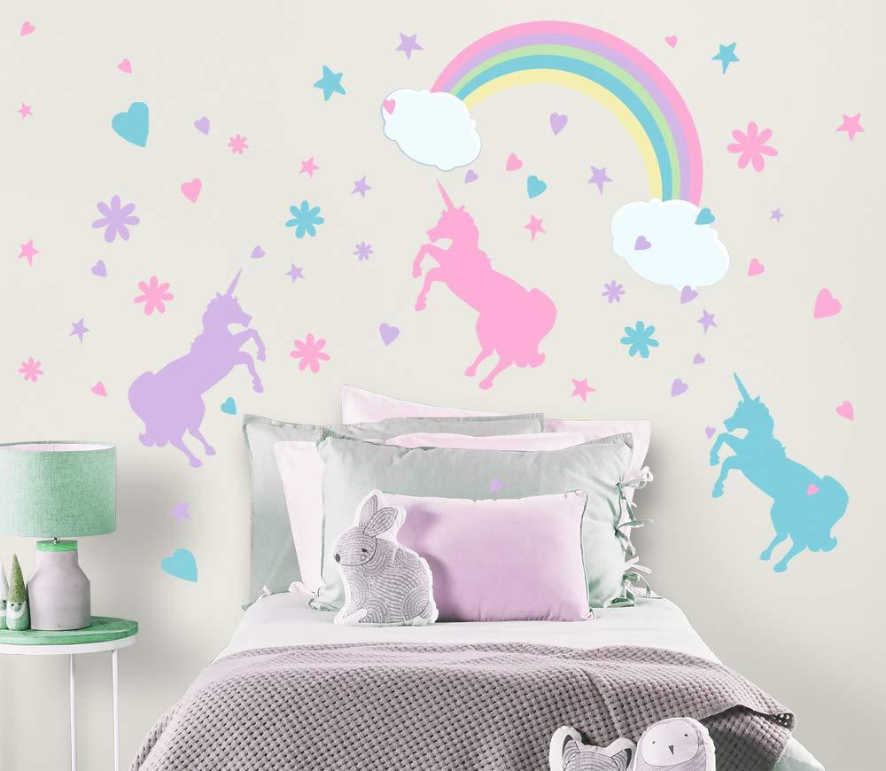 Vinilo Decorativo Pared [05U13060] unicornios