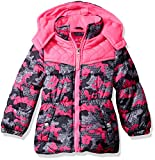 Pink Platinum Big Girls' Digi Camo Print Puffer, Grey, 14/16