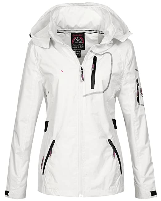 Geographical Norway - Abrigo Impermeable - Parka - para Mujer Weiß X-Large: Amazon.es: Ropa y accesorios