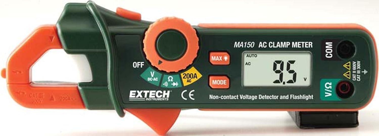 Extech MA150 Medidor de pinza con voltaje sin contacto integrado
