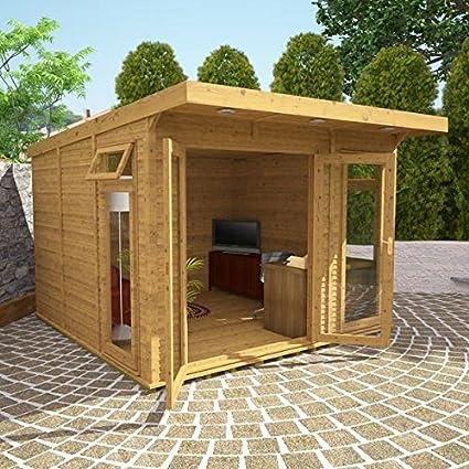 Nova 3 m x 3 m con aislamiento jardín habitación – contemporáneo cabañas de madera – cabañas de madera: Amazon.es: Jardín