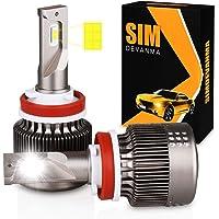 Simdevanma H11 Automobile LED Headlight Bulbs with Advanced LED Chip