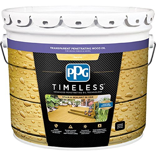 PPG TIMELESS 8 oz. TPO-0 Natural Transparent Penetrating Wood Oil Exterior Stain Low VOC