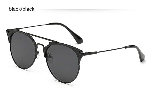 Amazon.com: Gafas de sol redondas para mujer con ojo de gato ...