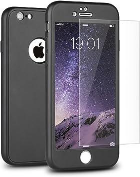 Funda iPhone 6S 6 Mothca 360 Grados Cuerpo Completo Ultra-fina Soft TPU Protección Anti-Arañazos