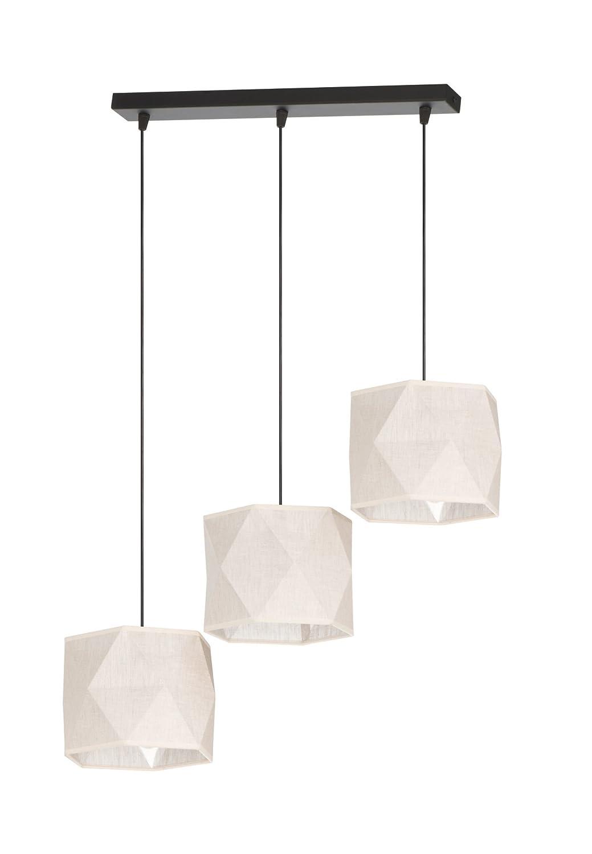 Bauhaus - Lámpara de techo (3 focos, diseño Hogar, en negro ...