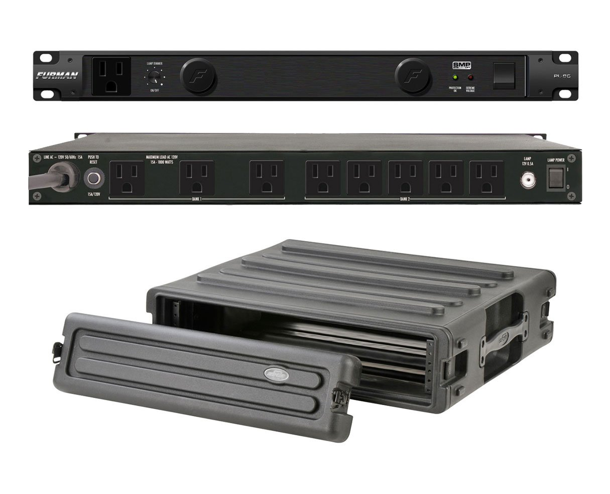 Furman PL-8 C Rack Mount Power Conditioner + SKB 1SKB-R2U Roto Molded 2U Rack
