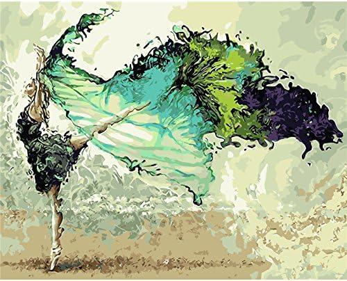 JXGG Pintura sin Marco Pintura Digital al óleo Abstracta Prensa Digital Mano Pintura Lienzo Pintura al óleo Pintura Decorativa Mariposa Amor 40x50cmSin Marco