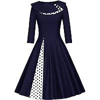 Las Mujeres Vestido Vintage 1950 Polka Dot Rockabilly De 40s Midi Retro Vestidos De Verano