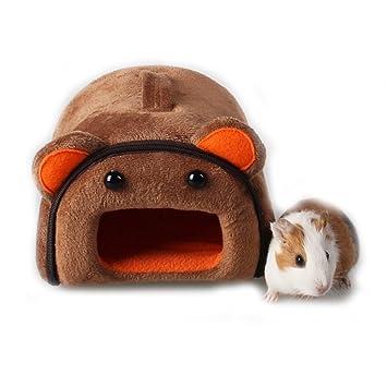 Hámster de hámster para mascotas, conejo, cobaya, hámster, casa, invierno, chinchilla, caseta, caseta de nido, accesorio para hámster: Amazon.es: Productos ...