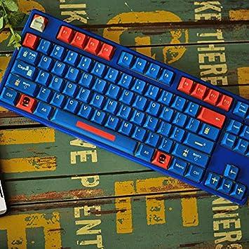 SSSLG PBT KeyCaps, Azul y Rojo Caps 87-Clave, Nombres de ...