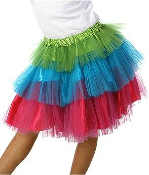 Horror-Shop Falda Infantil Colorida De Carnaval De Tul: Amazon.es ...