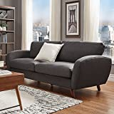 iNSPIRE Q Katryn Linen Fabric Sofa Modern Multi, Black, Grey