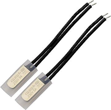 2pcs TLRS9700 40°C NC Thermostat Temperature Control Switch Bimetal 250V 5A N.C