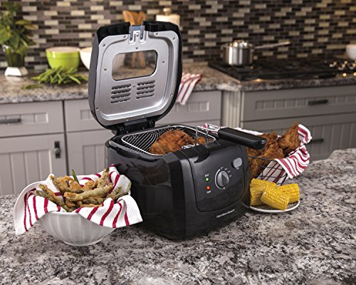 Hamilton Beach 35021 Deep Fryer with Cool Touch, Black