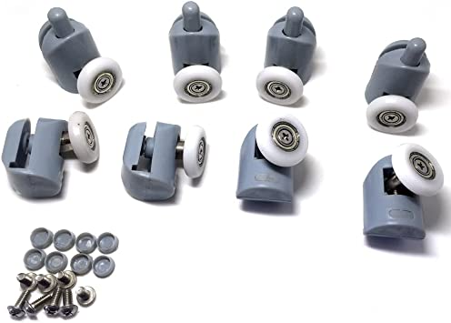 8 rodamientos para raíles de mampara de ducha, 20-27 mm ...