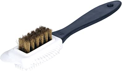Kaps Quality Nubuck And Suede Multifunctional 4-Sided Cleaning Shoe Brush, Brass Bristle, Cleans And Gives Perfect Nap