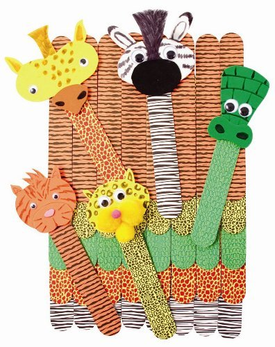 Wild Animal Craft Sticks - 50 Pieces