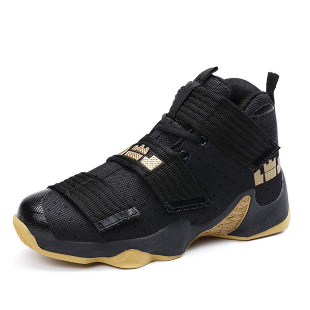 IDNG Basketballschuhe Basketballschuhe Männer Turnschuhe Schuhe Hohe Spitze Schnürschuhe Ankle Schuhe Luftkissen Stoßfest