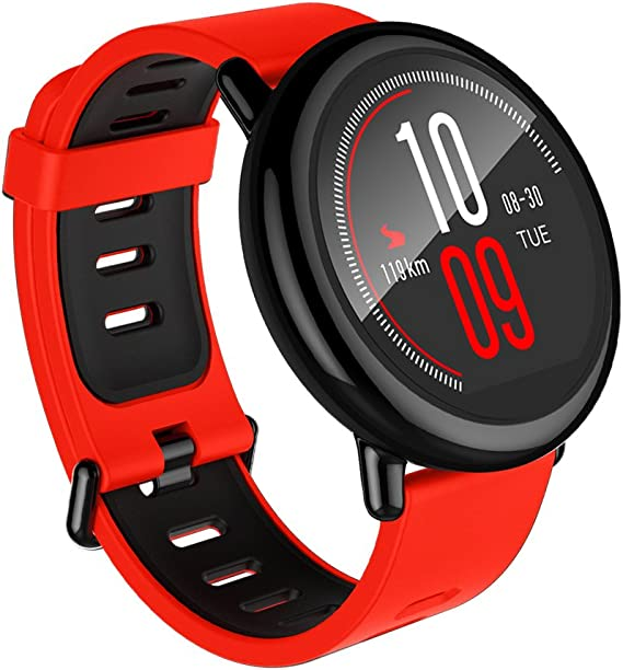 Amazfit Pace Multisport Smartwatch by Huami with All-Day Heart Rate and Activity Tracking, GPS, 5-Day Battery Life, (A1612 Red Band)