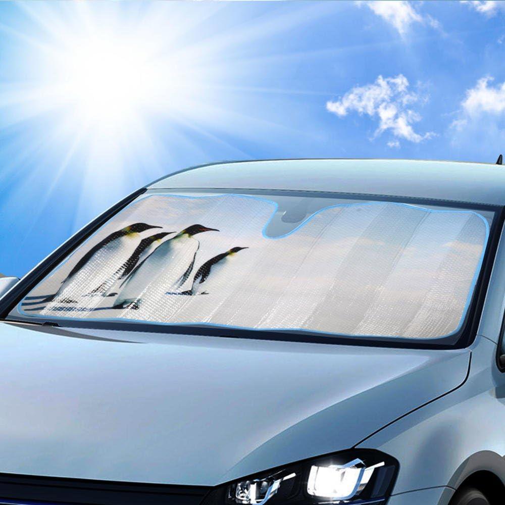 BDK AS-601+SS-001/_AMZHD AS601 Palm Tree Windshield Sun Shade for Car SUV Truck with Side Window Sunshades 58 x 28 Standard Beach