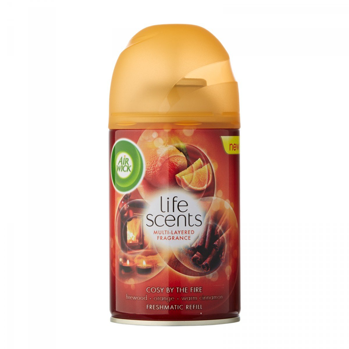 Air Wick Freshmatic Refill Life Scents Multi-Layered Fragrance Cosy By The Fire 250ml (6 Tins)