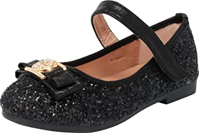 a4d78c47a508 Cambridge Select Girls  Closed Toe Glitter Ankle Strappy Bow Ballet Flat ( Toddler Little
