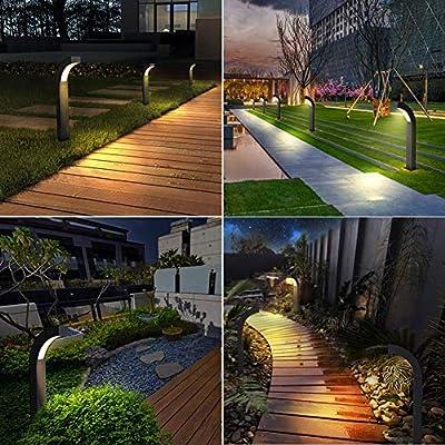 LJIANW-Farolas Jardin Exterior Moderno Al Aire Libre IP44 9W Luz Calida Antracita Jardín Decoración con Efecto LED Post Bolardo De Luz (Color : Black): Amazon.es: Hogar