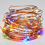 SOLLA 30 LED String Lights Battery Operated,Copper Wire Lights,Super Bright LED Rope Light,9.8ft,Multicolor,4-Set