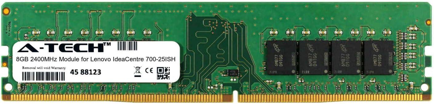 A-Tech 8GB Module for Lenovo IdeaCentre 700-25ISH Desktop & Workstation Motherboard Compatible DDR4 2400Mhz Memory Ram (ATMS276807A25820X1)