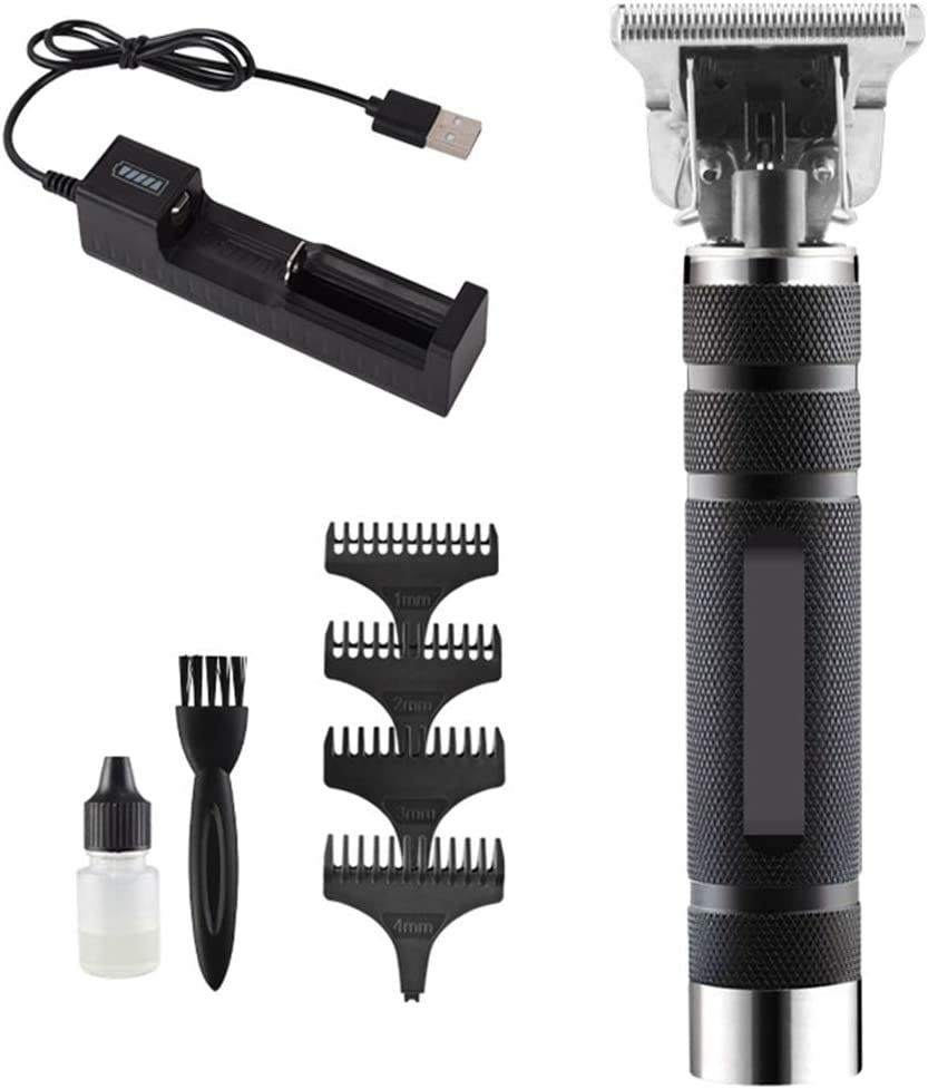 Pelo Profesional Trimmer Recargable Interruptor De Un Solo Toque Por El Ahorcamiento De Pedalier Diseño Clipper Hair Salon Hair Styling Máquina Del Cortador,Negro,single battery