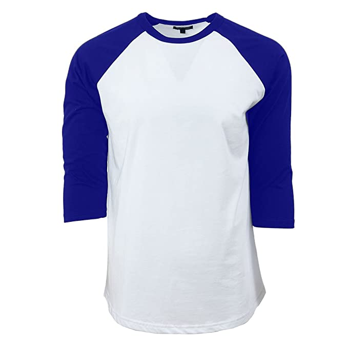 Casual 3 4 Sleeve Baseball T-Shirt Raglan Jersey Tee Unisex Men Women 10  Colors Fit Soft Cotton Jersey S-5XL at Amazon Men s Clothing store  c8a6ef258
