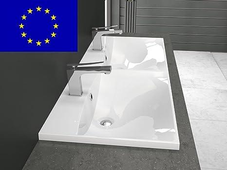 Doppio Lavabo Da Incasso Bagno : Doppio lavabo da incasso cm forma rettangolare cm
