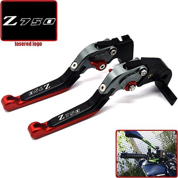 CNC - Palanca de embrague de freno plegable y extensible para Kawasaki Z750 (no modelo Z750S) 2007 2008 2009 2010 2011 2012: Amazon.es: Coche y moto