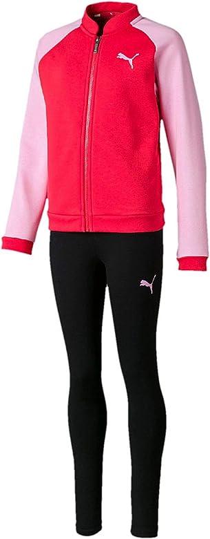 PUMA Chándal Niña Sweat Suit XS Rosa: Amazon.es: Ropa y accesorios