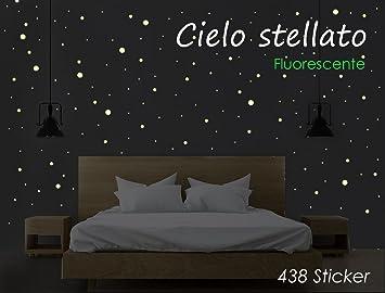 Sternenhimmel - 438 leuchtende Punkte im Dunkeln ...