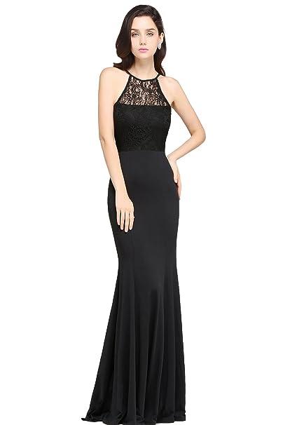 Babyonlinedress Vestido negro elástico largo para fiesta de noche vestido de moda para 2017 vestido ajustado