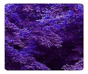 Decorative Mouse Pad Art Print Landscape and Plants Purple Forest