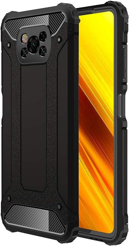 2 Pack TPU Souple en Silicone-Noir B/équille /à Bague de Rotation /à 360 degr/és Verre Tremp/é Xiaomi Poco X3 NFC Protection /écran, Military Grade Anti-Chute IMBZBK Coque pour Xiaomi Poco X3 NFC +