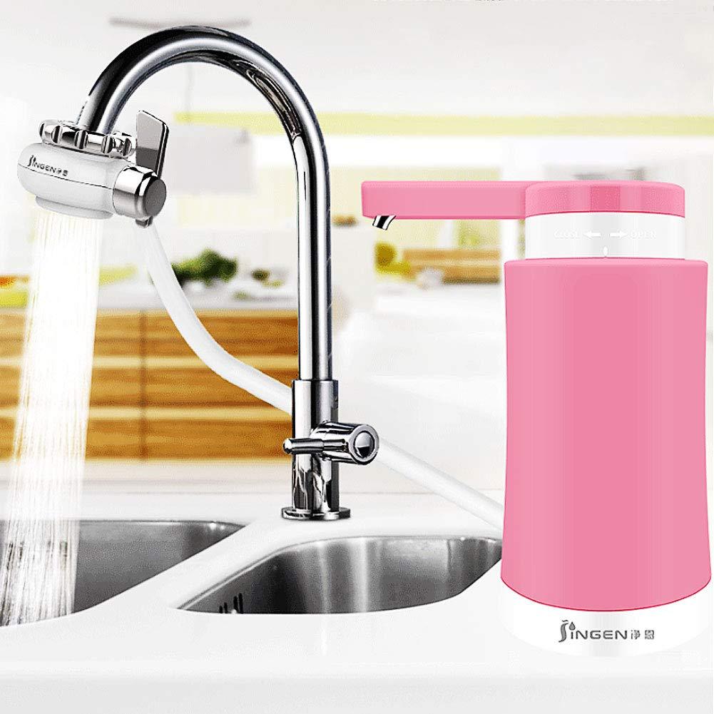 Musitelying JN-UF-05 Household Kitchen Ultra-Filtration Faucet Water Purifier Modular Filter Convenient Water Filter Pink by Musitelying