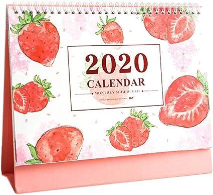 NUOBESTY 2020 estudiante escritorio calendario fruta patrón ...