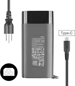 JHZL 90W Type C Spectre Charger Power Adapter Compatible for HP Spectre 15-bl000 15-bl100 x360 Elitebook x360 1040 G5 904144-850 904082-003 TPN-DA08 ADP-90FE B