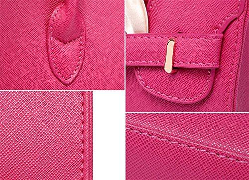 Pu Centimetri 9 Fashion Signore Tracolla Yanx Tote 31 Pacchetto Signora Platinum 5 22 Red Borsetta xOEwB
