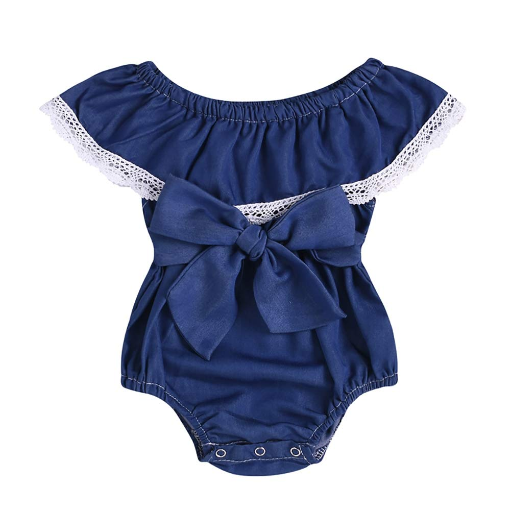 Kidoll Newborn Baby Sleeveless Romper Jumpsuit Toddler Infant Girls Cute Casual Bodysuit Outfits 0-24M
