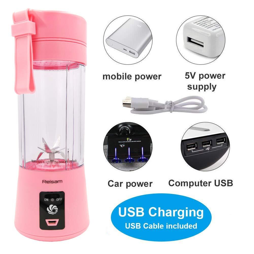 Tomotogogo Mini licuadora, exprimidor eléctrico de 380 ML ...