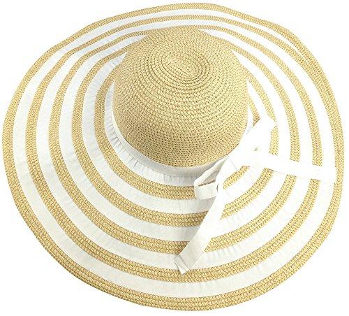 """c9956a92c61 sandals Livativ Bleu Nero Luxury Floppy Hat Beach Sun Hat for Women – Straw  Hat Wide. """""""