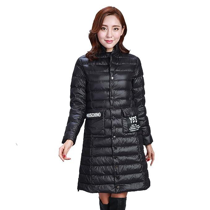nihiug Down Jacket Mujer En La Sección Larga Delgada Versión Coreana Delgada Fue Delgada Wild Ladies Down Jacket No Se Atrevió con Capucha Bloqueo ...
