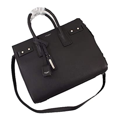 7256fa0ec Paper Yves Saint Laurent Paris Nano Sac De Jour Bag in smooth leather for  women (black): Handbags: Amazon.com