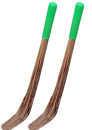 Chand Suraj Pellcaso Broom For Bathroom Cleaning & Wet Floor (Teela / Nariyal Jhadu) - 2 Pcs Combo